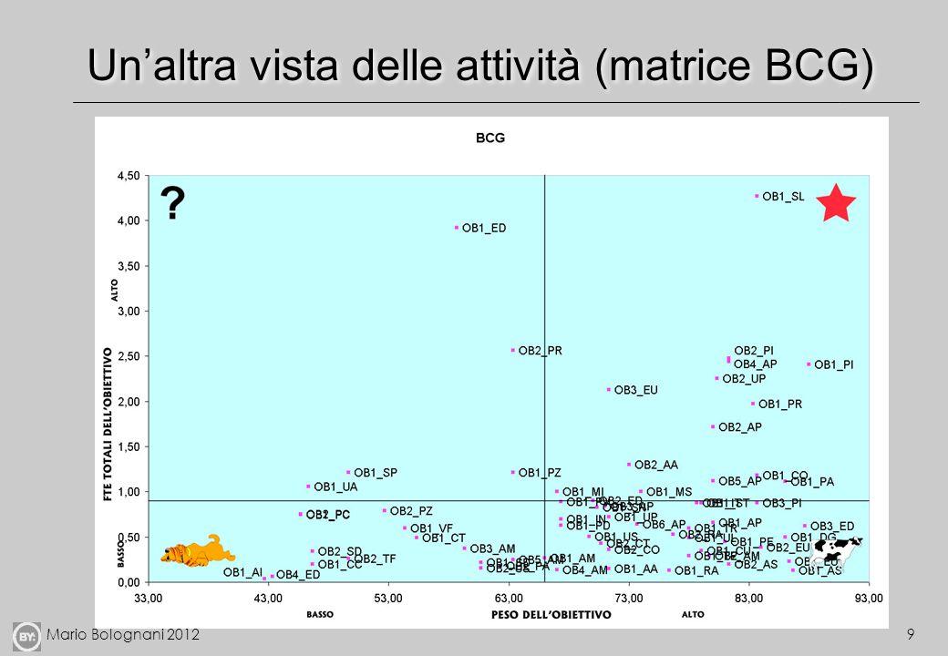 Un'altra vista delle attività (matrice BCG)