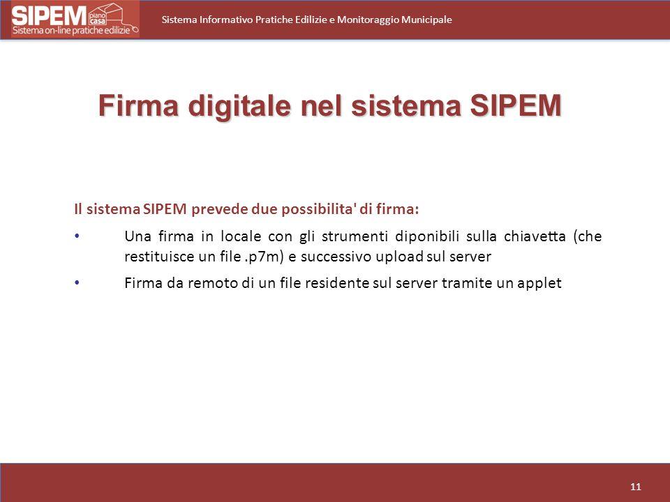 Firma digitale nel sistema SIPEM