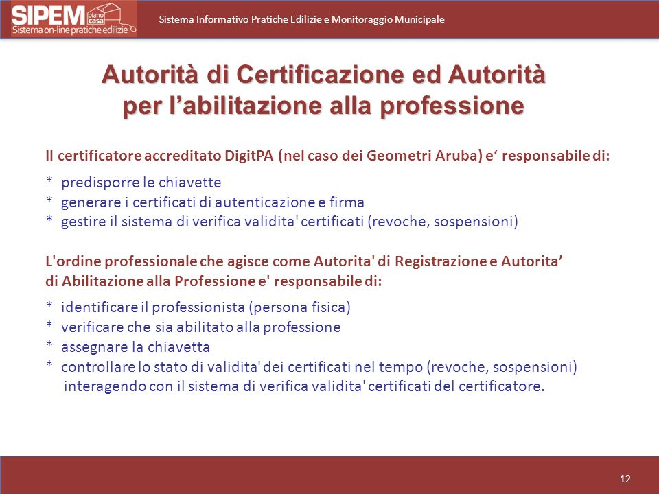 Autorità di Certificazione ed Autorità