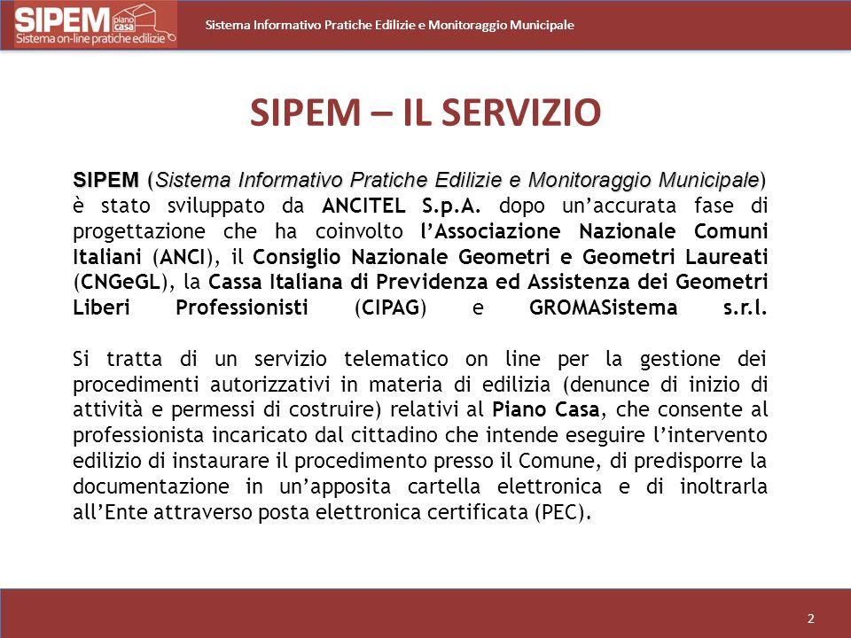 Sistema Informativo Pratiche Edilizie e Monitoraggio Municipale