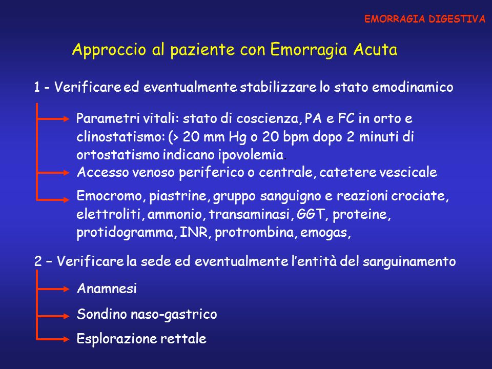 Approccio al paziente con Emorragia Acuta