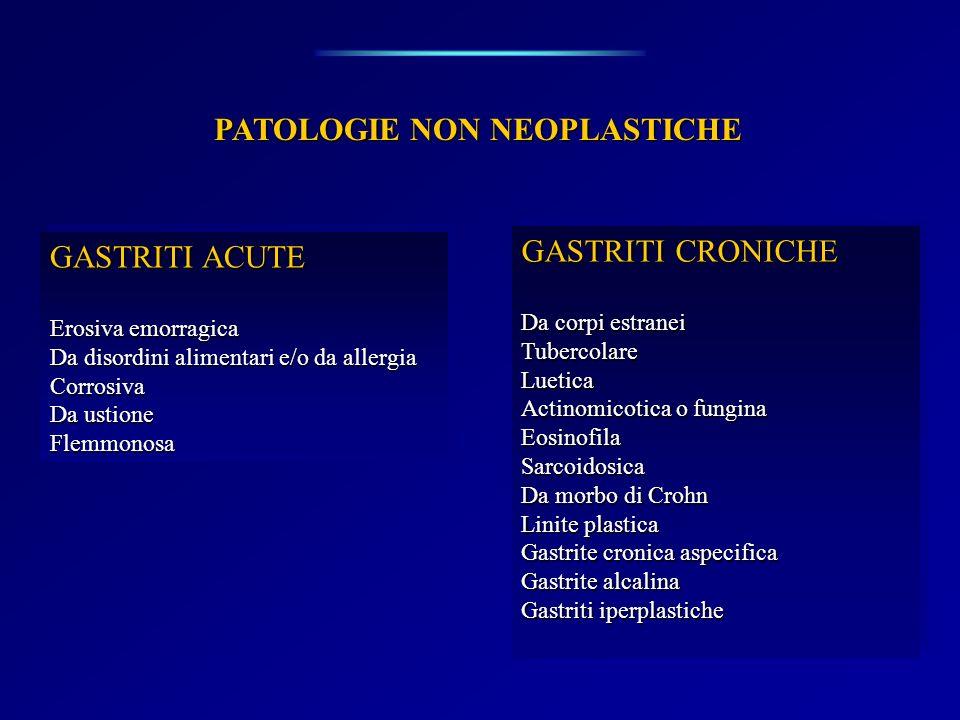 PATOLOGIE NON NEOPLASTICHE