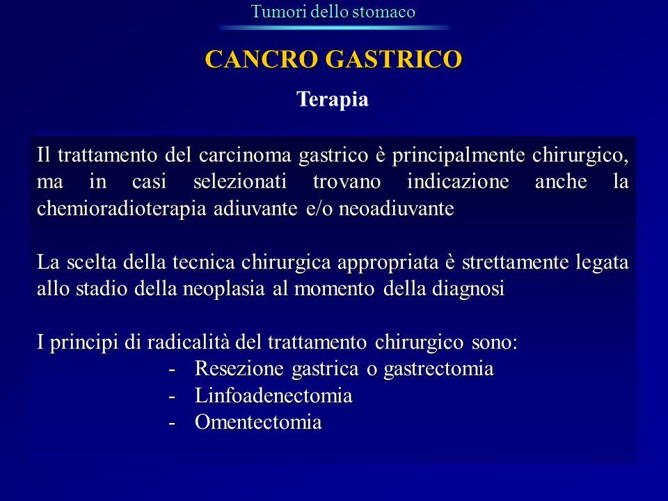 CANCRO GASTRICO Terapia