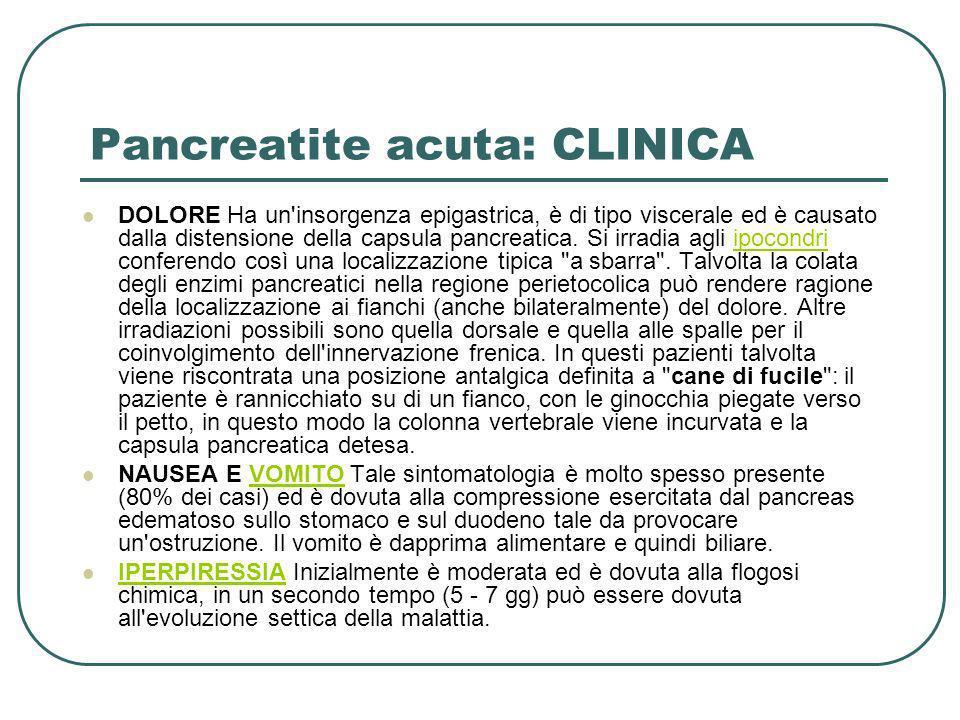 Pancreatite acuta: CLINICA