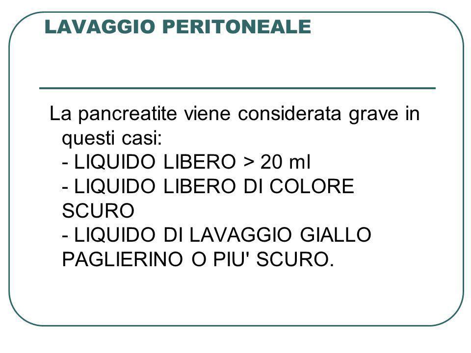 LAVAGGIO PERITONEALE