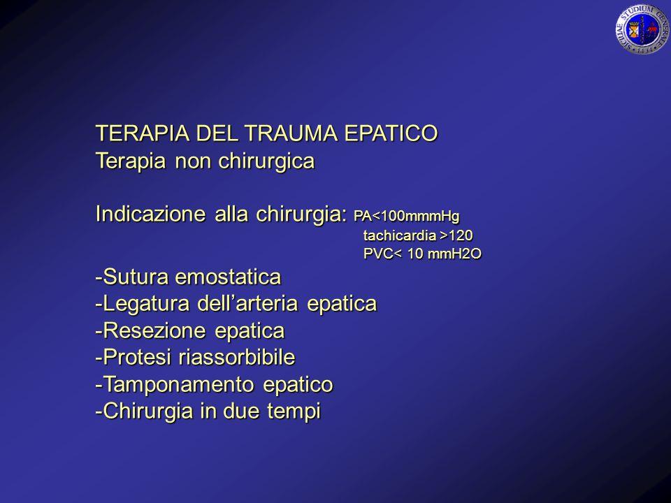 TERAPIA DEL TRAUMA EPATICO Terapia non chirurgica