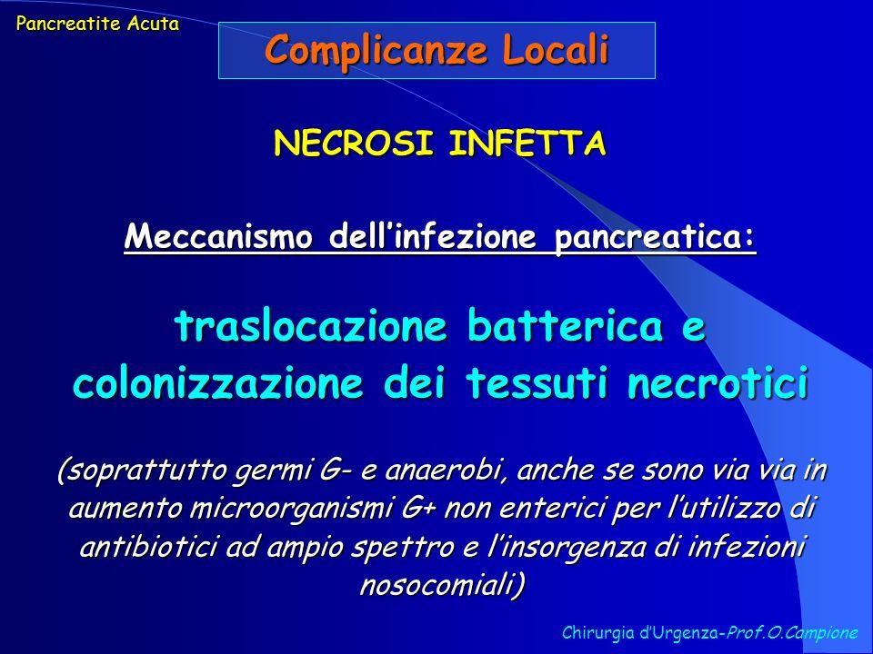 traslocazione batterica e colonizzazione dei tessuti necrotici