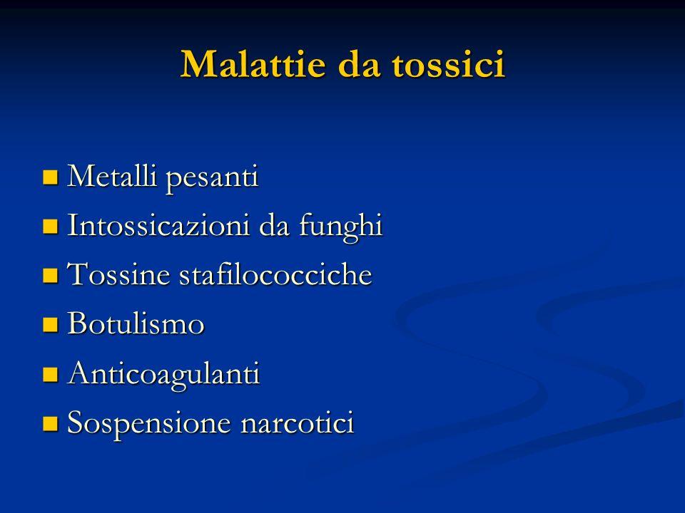 Malattie da tossici Metalli pesanti Intossicazioni da funghi
