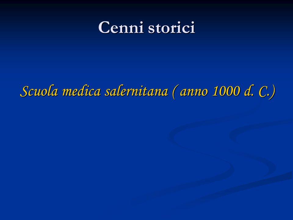 Scuola medica salernitana ( anno 1000 d. C.)