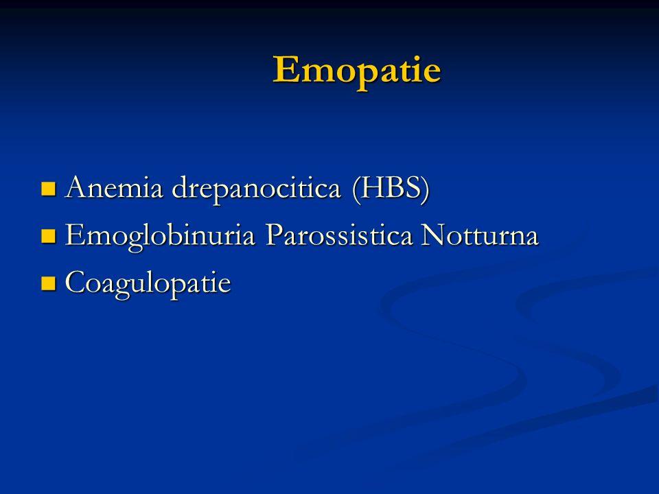 Emopatie Anemia drepanocitica (HBS)