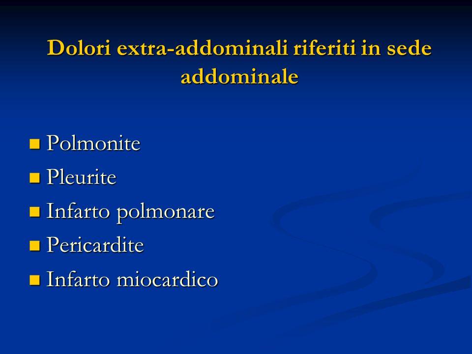Dolori extra-addominali riferiti in sede addominale