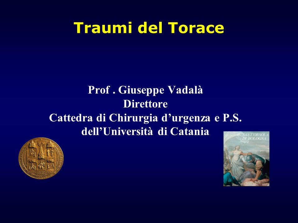 Cattedra di Chirurgia d'urgenza e P.S. dell'Università di Catania