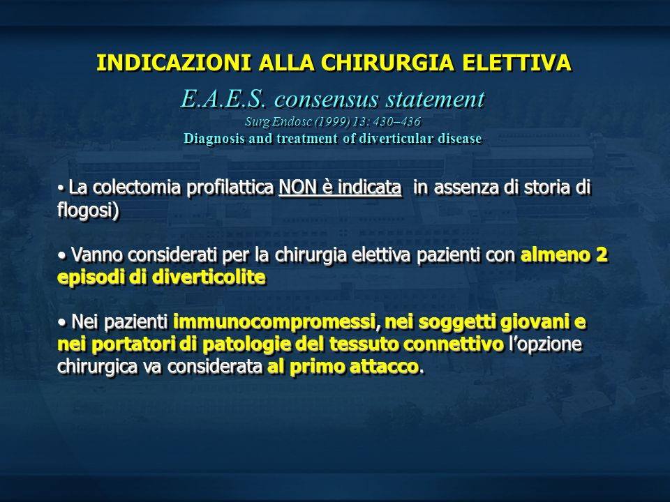 E.A.E.S. consensus statement