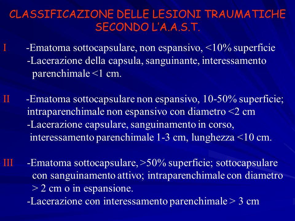 CLASSIFICAZIONE DELLE LESIONI TRAUMATICHE SECONDO L'A.A.S.T.