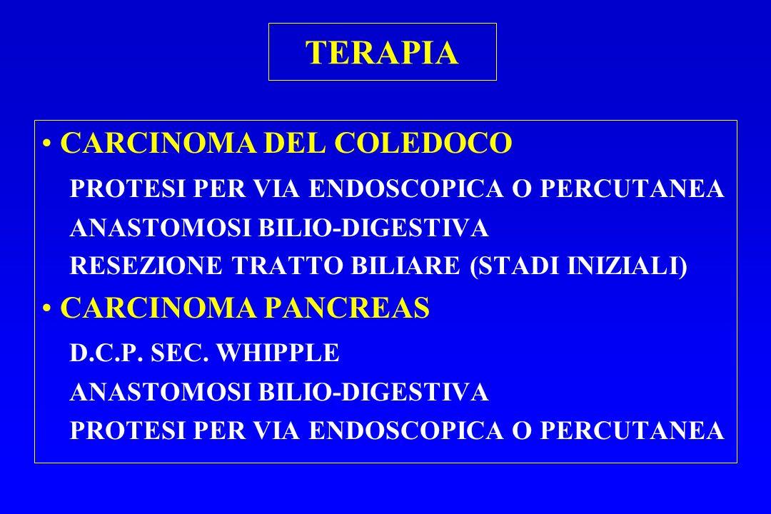 TERAPIA CARCINOMA DEL COLEDOCO