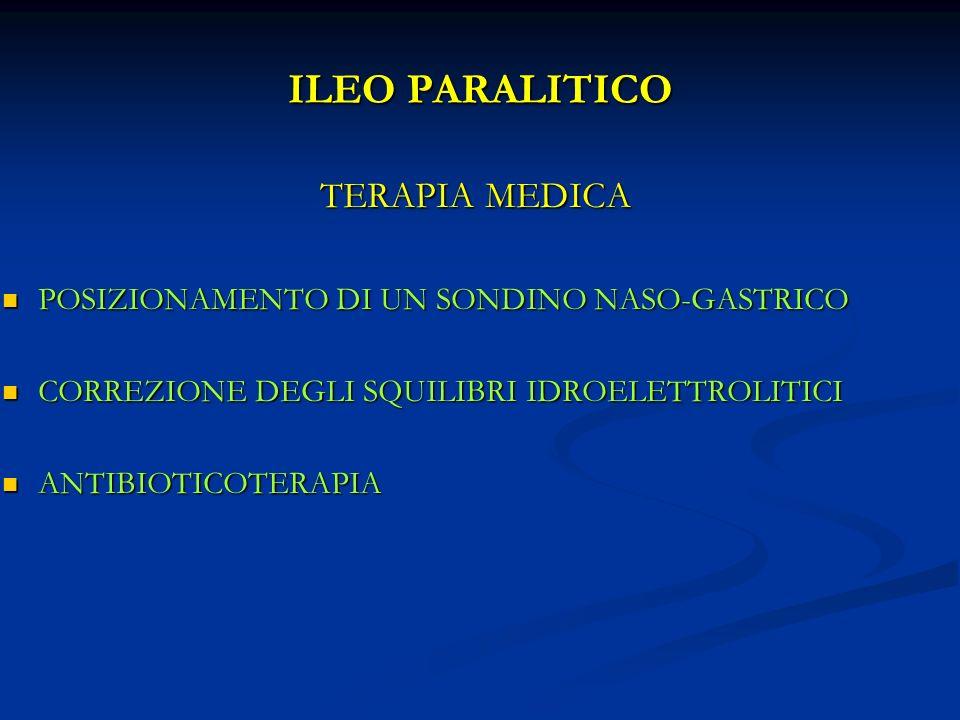 ILEO PARALITICO TERAPIA MEDICA