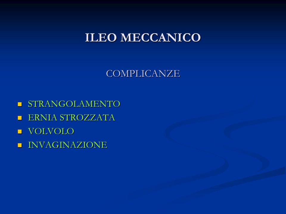 ILEO MECCANICO COMPLICANZE STRANGOLAMENTO ERNIA STROZZATA VOLVOLO