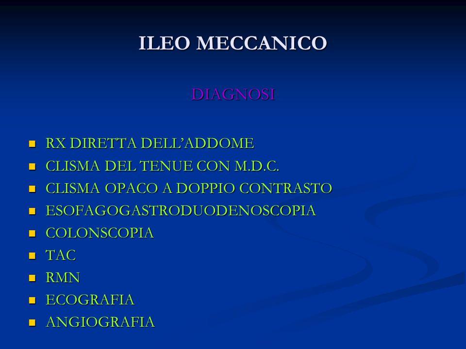 ILEO MECCANICO DIAGNOSI RX DIRETTA DELL'ADDOME