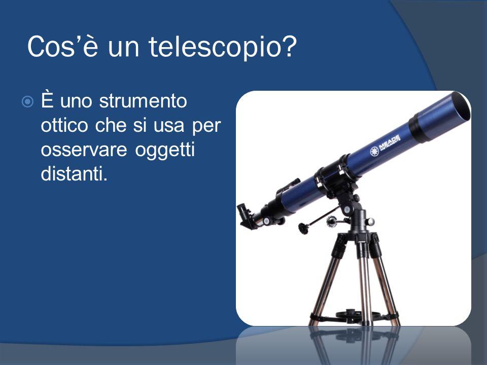 Cos'è un telescopio È uno strumento ottico che si usa per osservare oggetti distanti.