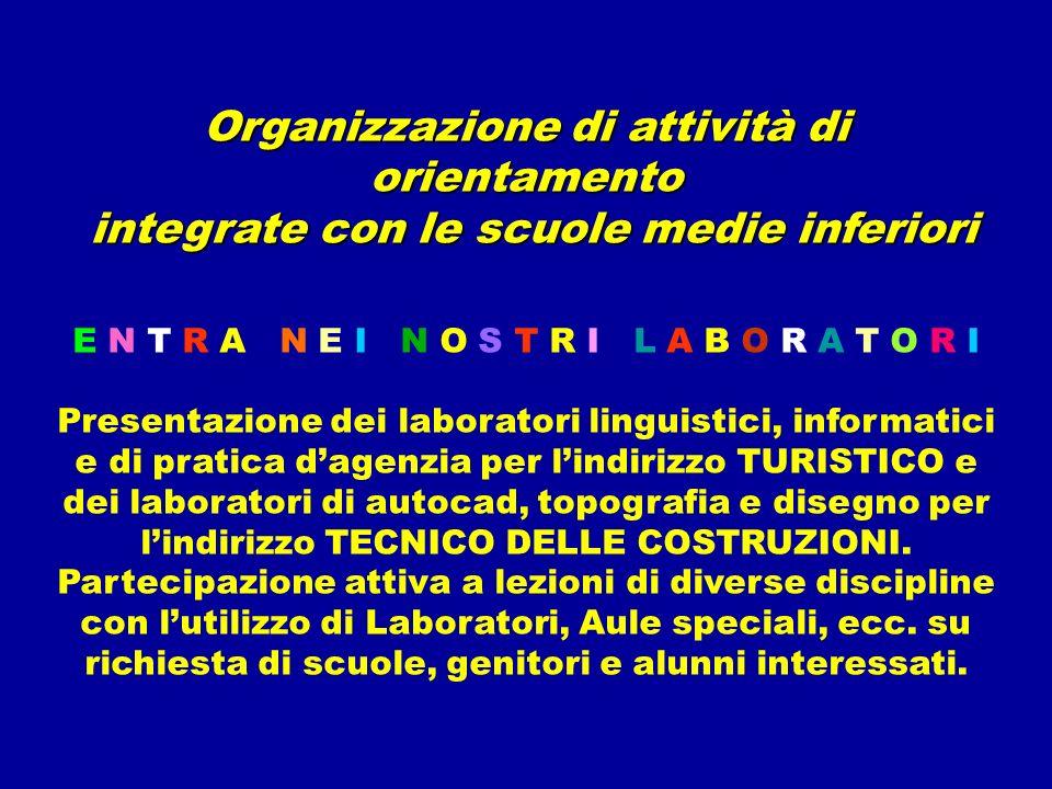 Organizzazione di attività di orientamento