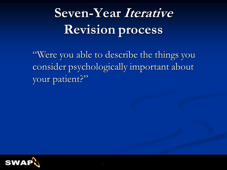 Seven-Year Iterative Revision process