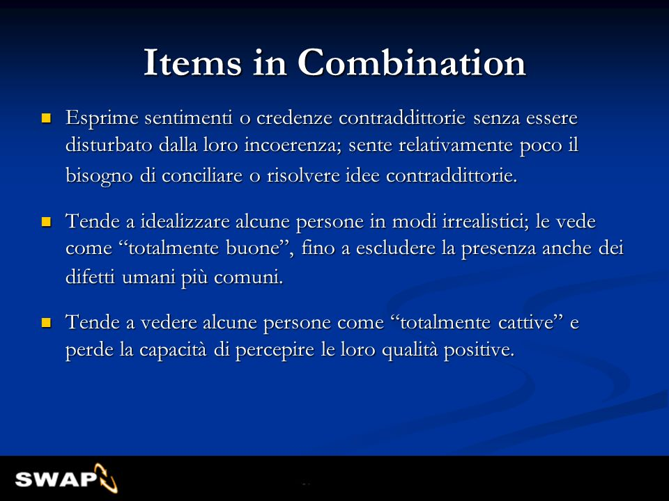 Items in Combination