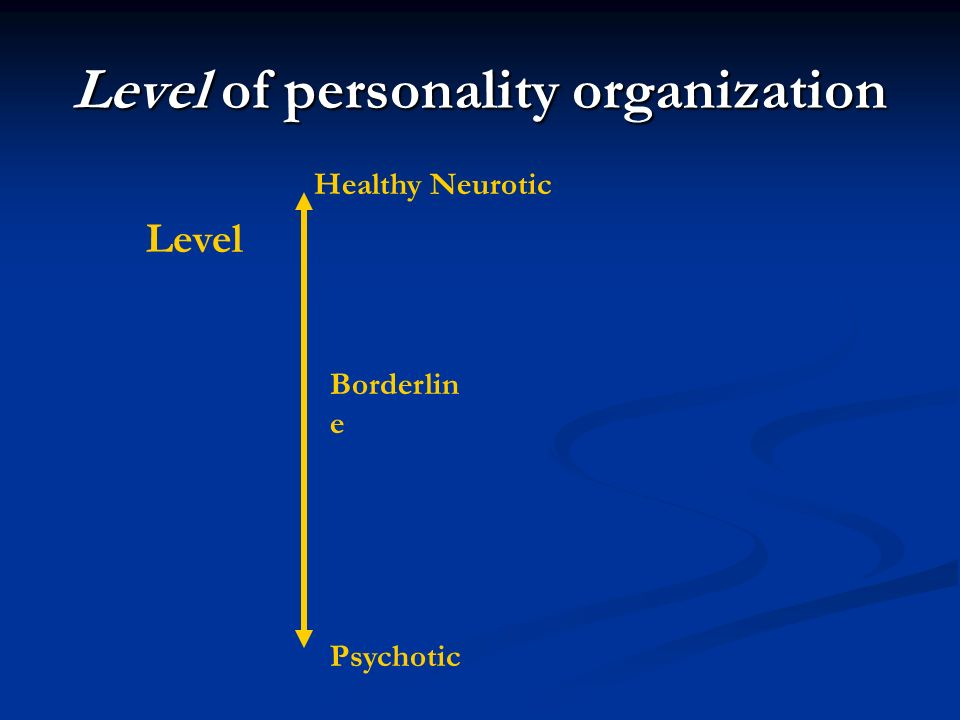 Level of personality organization