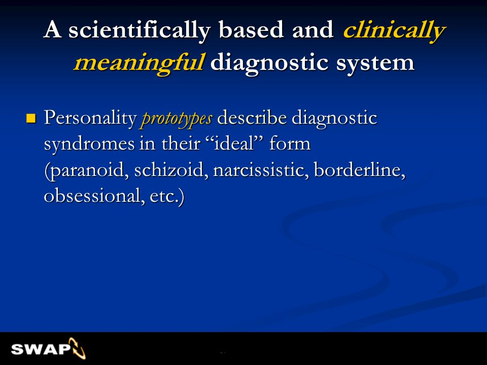 A scientifically based and clinically meaningful diagnostic system