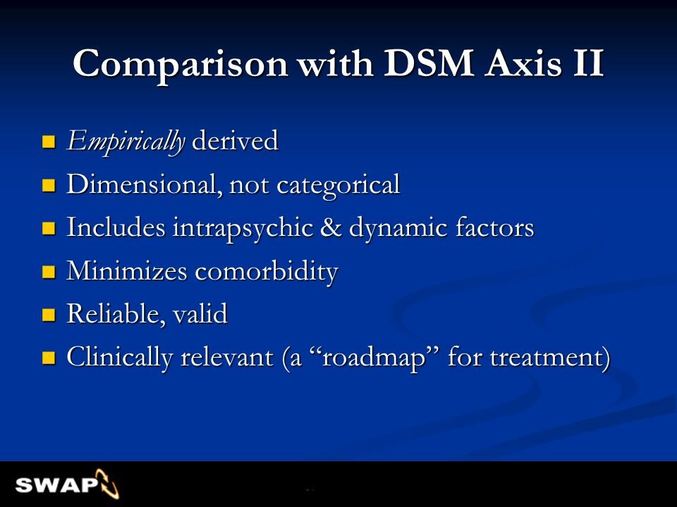 Comparison with DSM Axis II