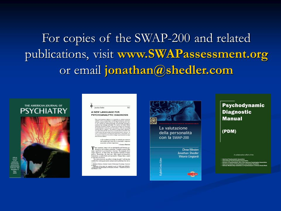 For copies of the SWAP-200 and related publications, visit www