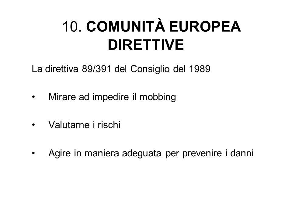 10. COMUNITÀ EUROPEA DIRETTIVE