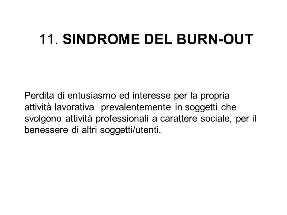11. SINDROME DEL BURN-OUT