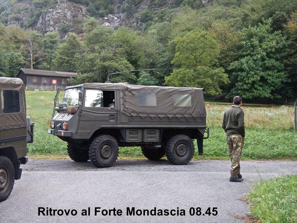 Ritrovo al Tizi Bar alle 08.45 Ritrovo al Forte Mondascia 08.45