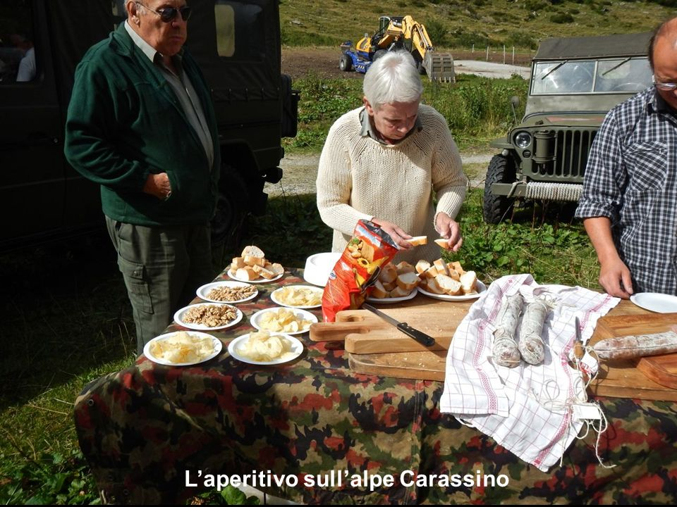 L'aperitivo sull'alpe Carassino