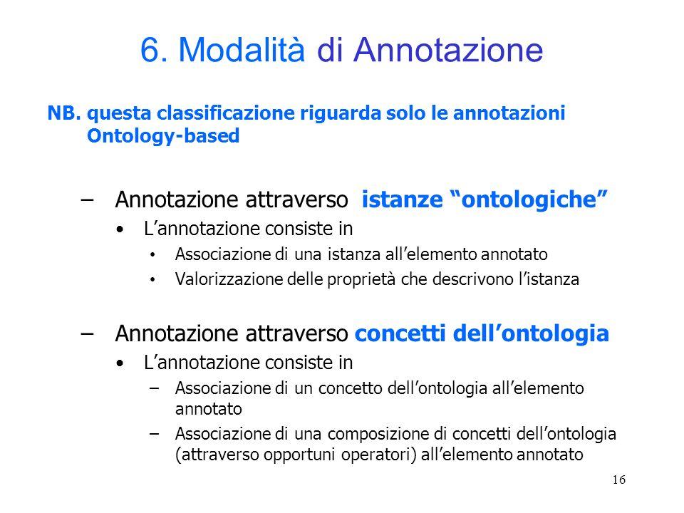 6. Modalità di Annotazione