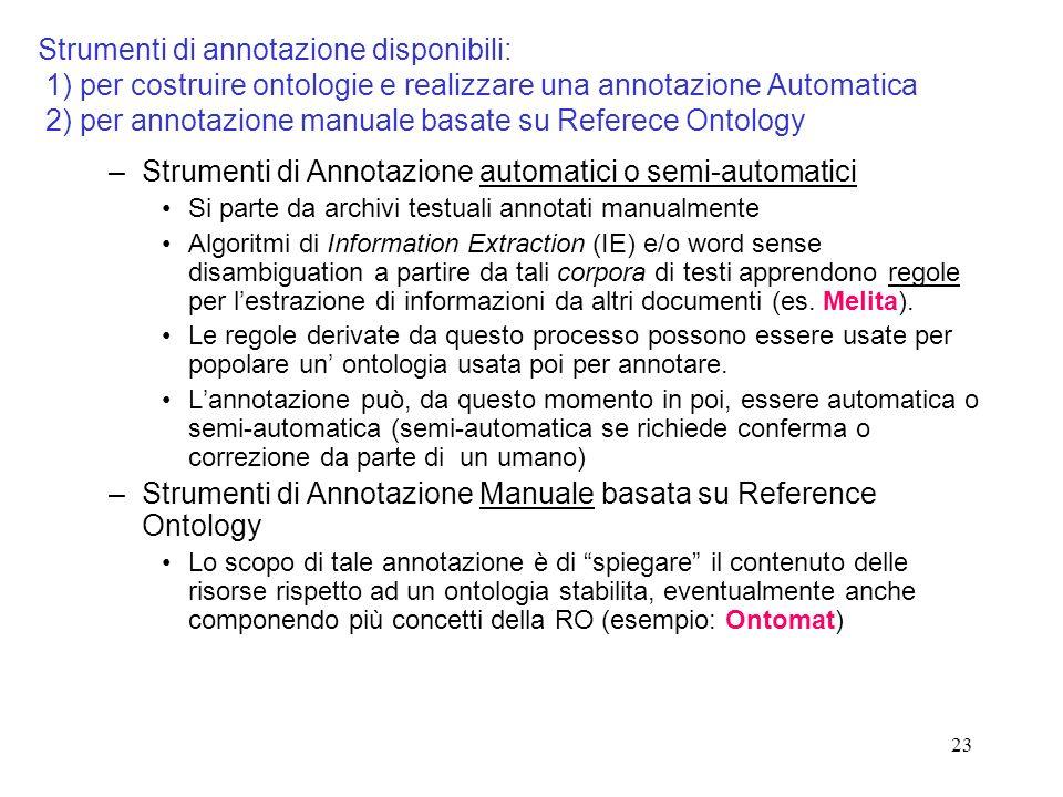 Strumenti di Annotazione automatici o semi-automatici