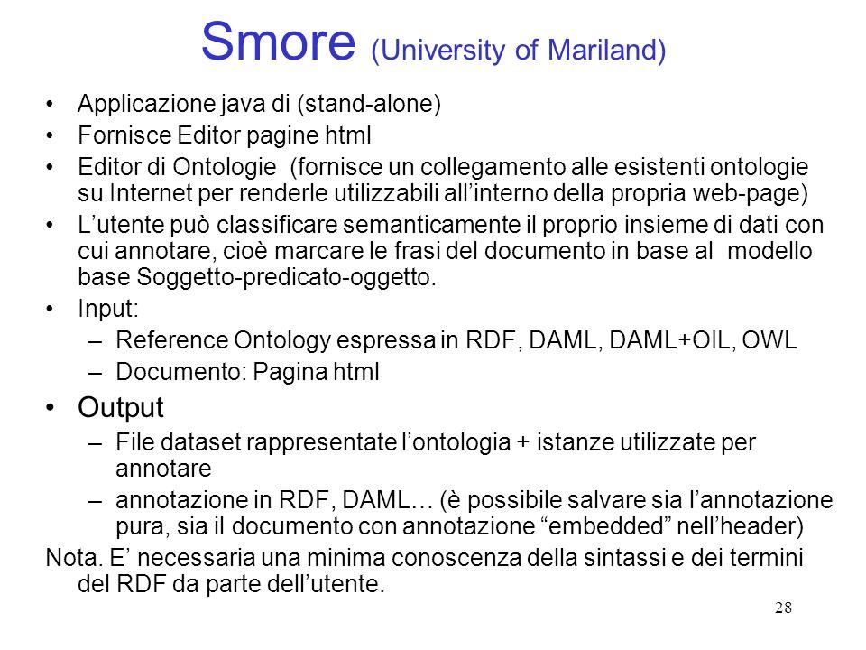 Smore (University of Mariland)
