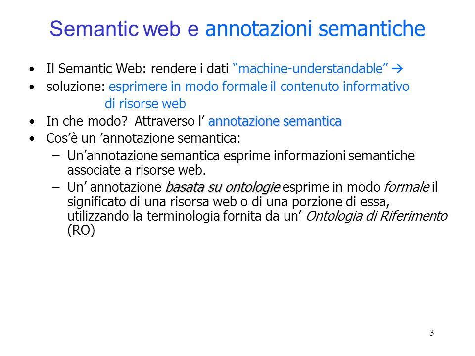 Semantic web e annotazioni semantiche