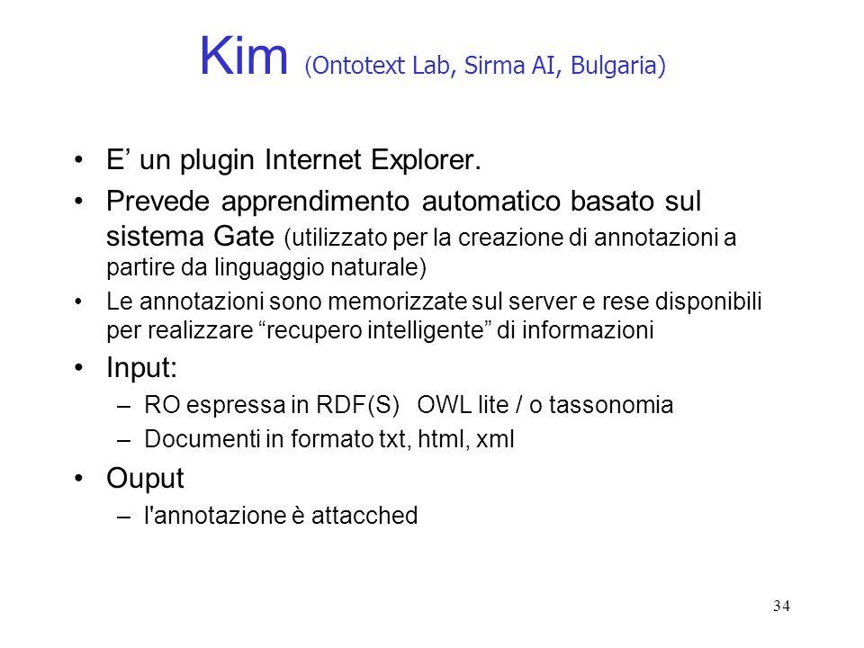 Kim (Ontotext Lab, Sirma AI, Bulgaria)