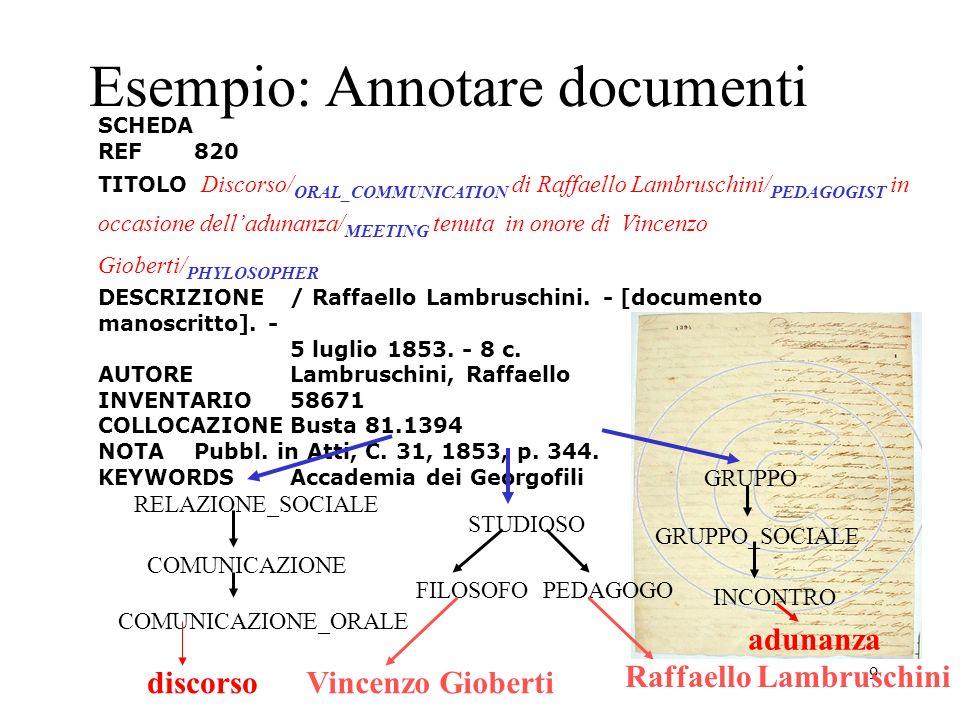 Esempio: Annotare documenti