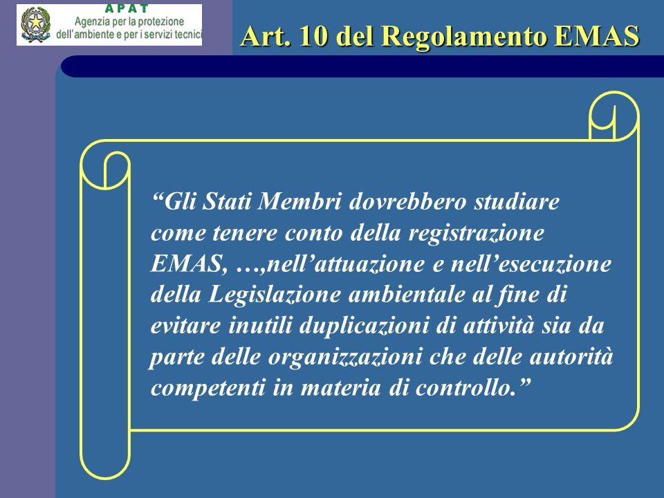 Art. 10 del Regolamento EMAS