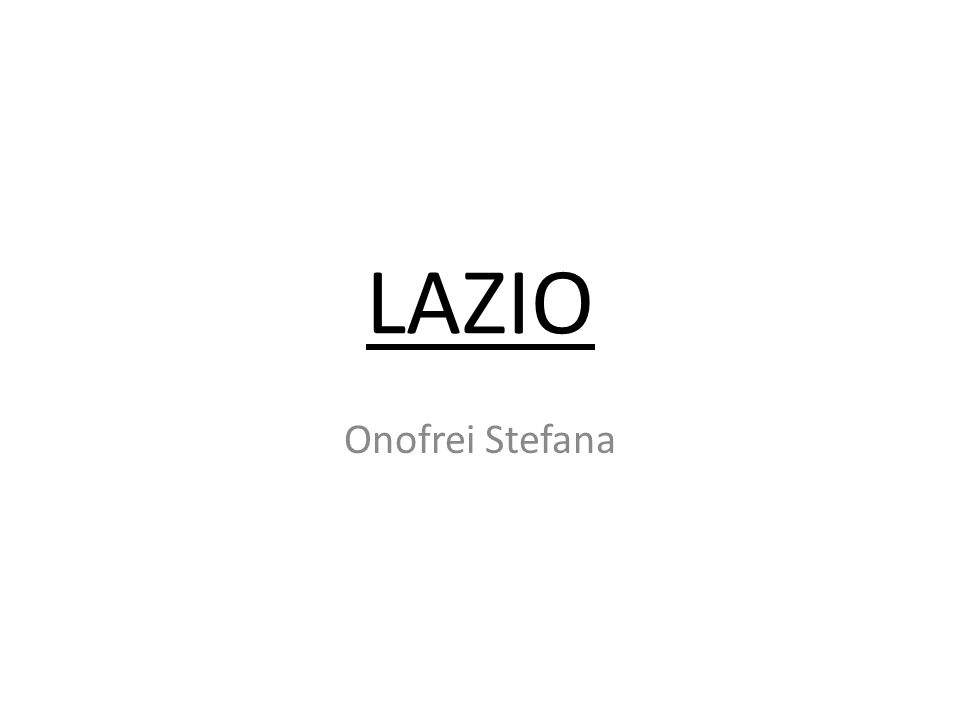 LAZIO Onofrei Stefana