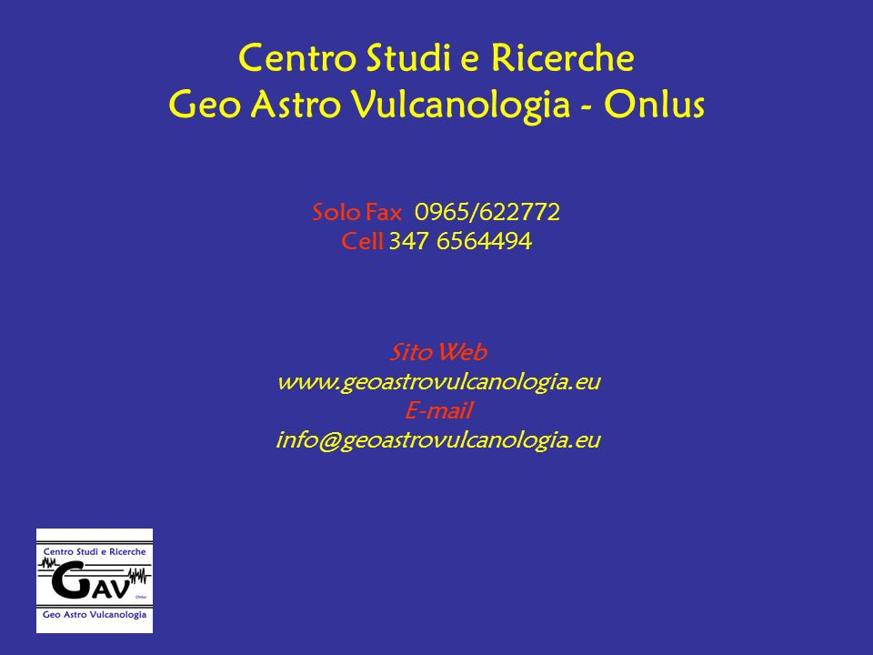 Centro Studi e Ricerche Geo Astro Vulcanologia - Onlus