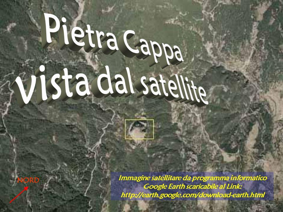 Pietra Cappa vista dal satellite