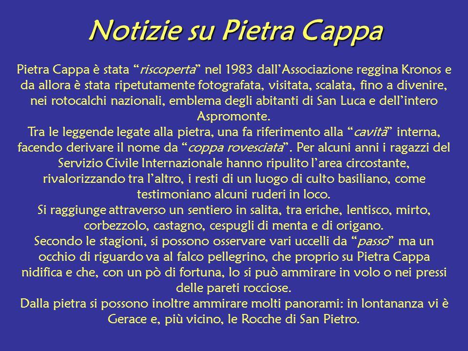 Notizie su Pietra Cappa