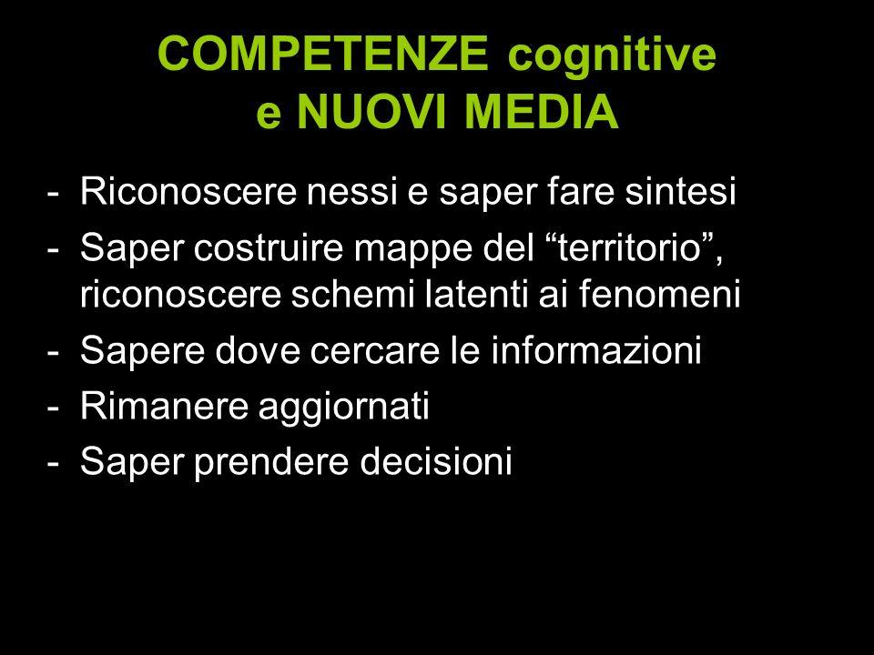 COMPETENZE cognitive e NUOVI MEDIA