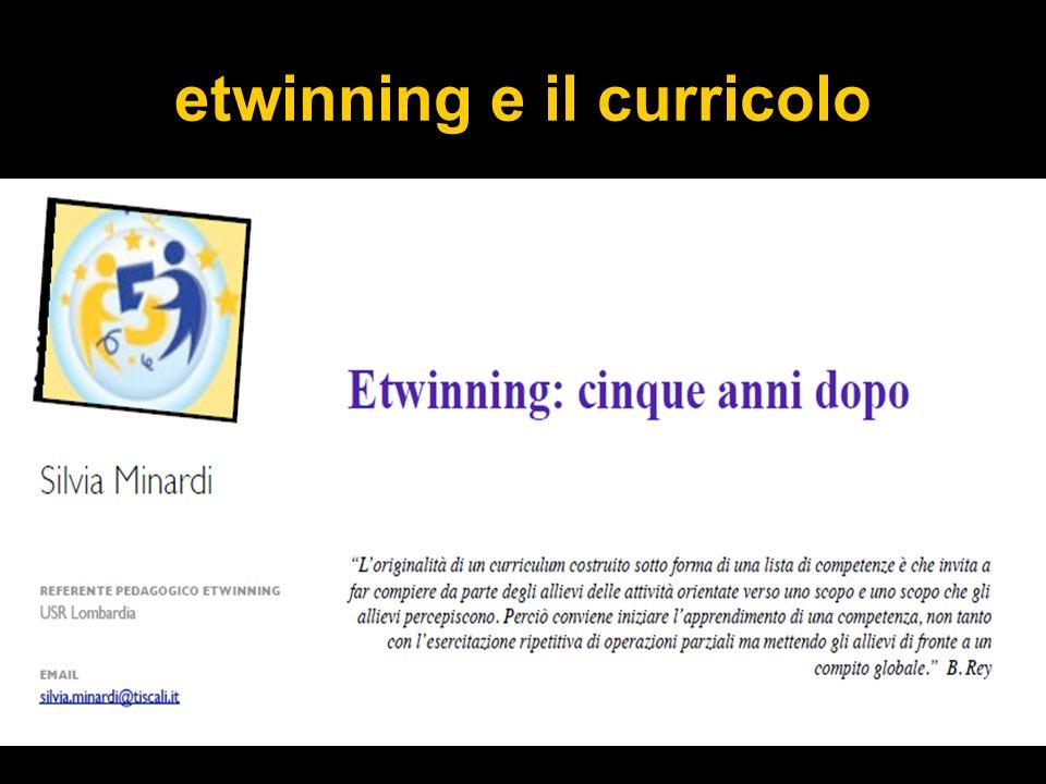 etwinning e il curricolo
