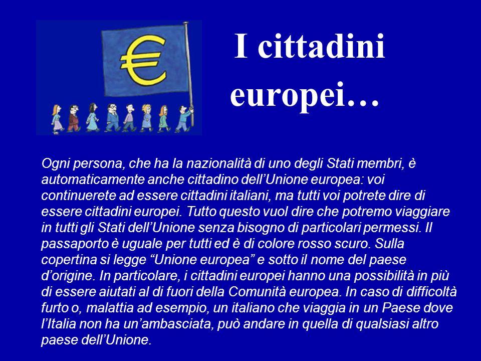 I cittadini europei…