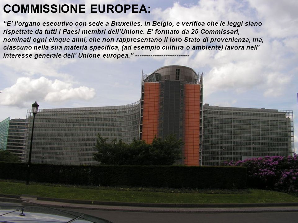 COMMISSIONE EUROPEA: