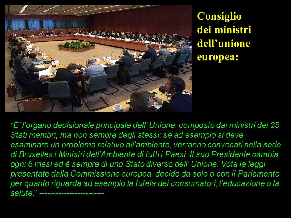 Consiglio dei ministri dell'unione europea: